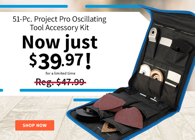 Project Pro Oscillating Tool Accessory Kit