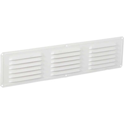 Air Vent 16 In. x 4 In. White Aluminum Under Eave Vent