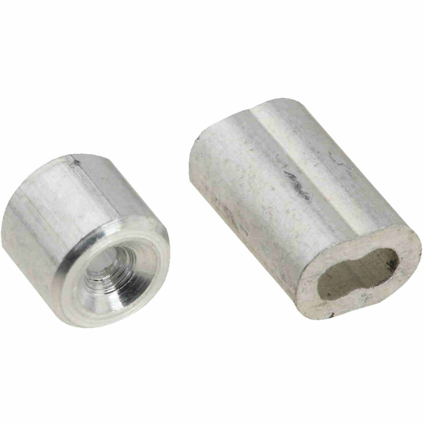 """Prime-Line Cable Ferrules And Stops, 1/16"""", Aluminum Image 1"""