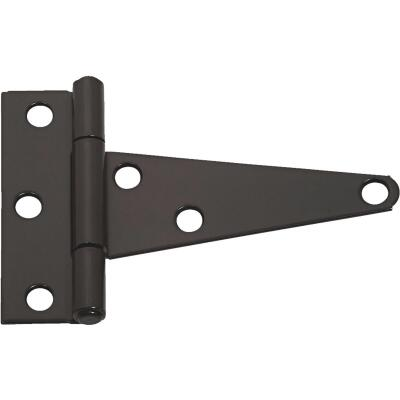 National 4 In. Black Heavy-Duty Tee Hinge (2-Pack)