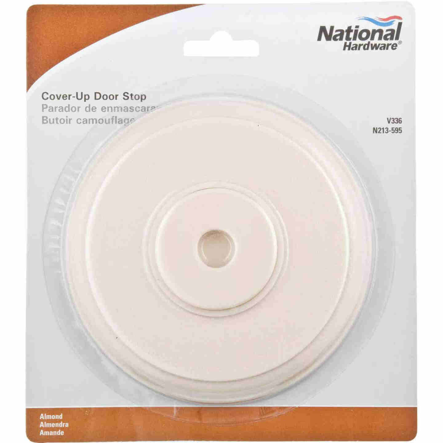 National 336 5 In. Almond Softstop Cover-Up Wall Door Stop Image 2