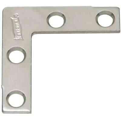 National Catalog 117 1-1/2 In. x 3/8 In. Zinc Flat Corner Iron (4-Count)