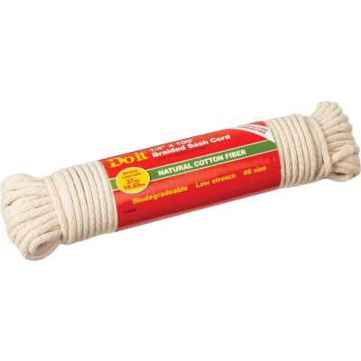 Do it 1/4 In. x 100 Ft. White Solid Braided Cotton Sash Cord