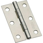 National 3 In. Zinc Tight-Pin Narrow Hinge (2-Pack) Image 1
