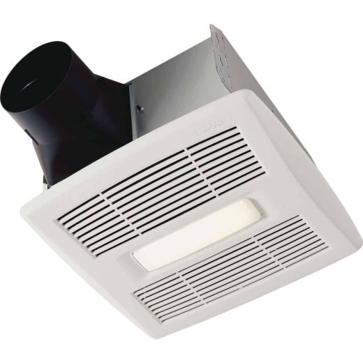 Broan Flex Series 110 CFM 1.0 Sones Bathroom Exhaust Fan with Light