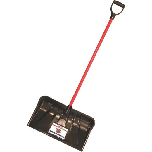 Bully Tools 22 In. Poly Combo Snow Pusher with 37 In. Fiberglass Handle