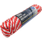 Do it 3/8 In. x 50 Ft. Red & White Derby Polypropylene Packaged Rope Image 2