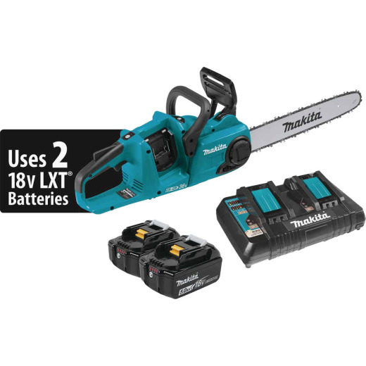 Makita 18V LXT Lithium-Ion Brushless Cordless 16 In. (5.0Ah) Chain Saw Kit