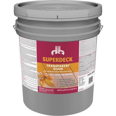 Duckback SUPERDECK Transparent Exterior Stain, Cedar Tone Natural, 5 Gal.