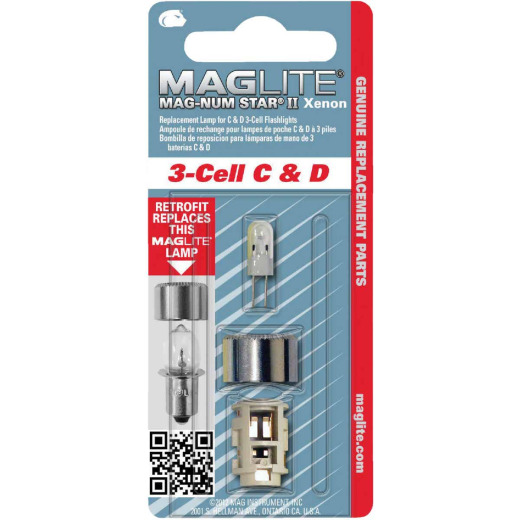 Maglite Xenon 4.5V Replacement Flashlight Bulb